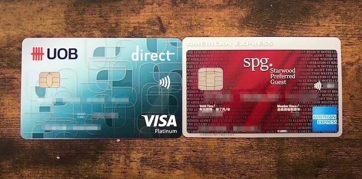 VISAカードとspgアメリカンエキスプレスカード