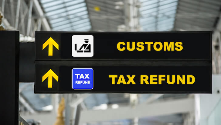空港の税関