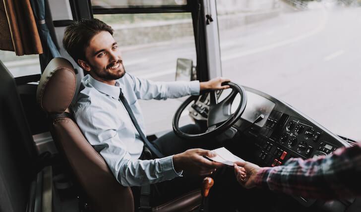 バスの運転手と英語で会話