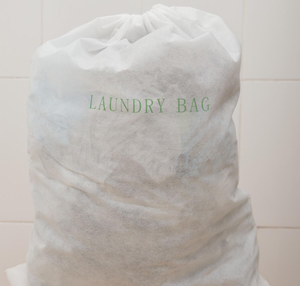ホテルのランドリーバッグ