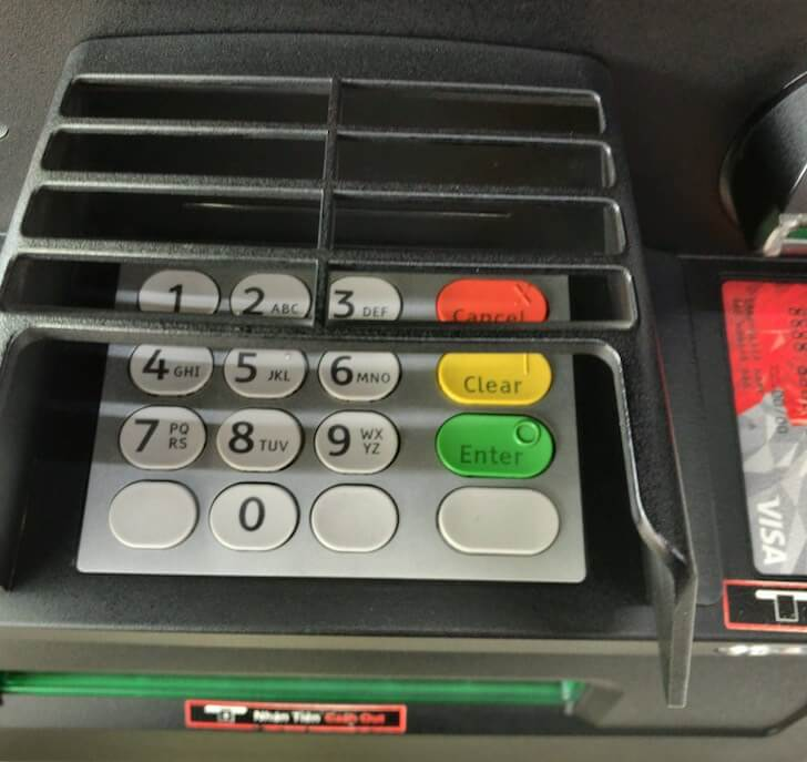 ATMのテンキー