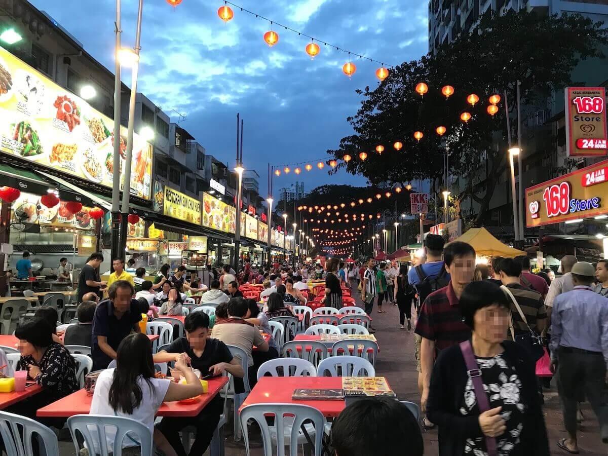 マレーシアのアロー通り