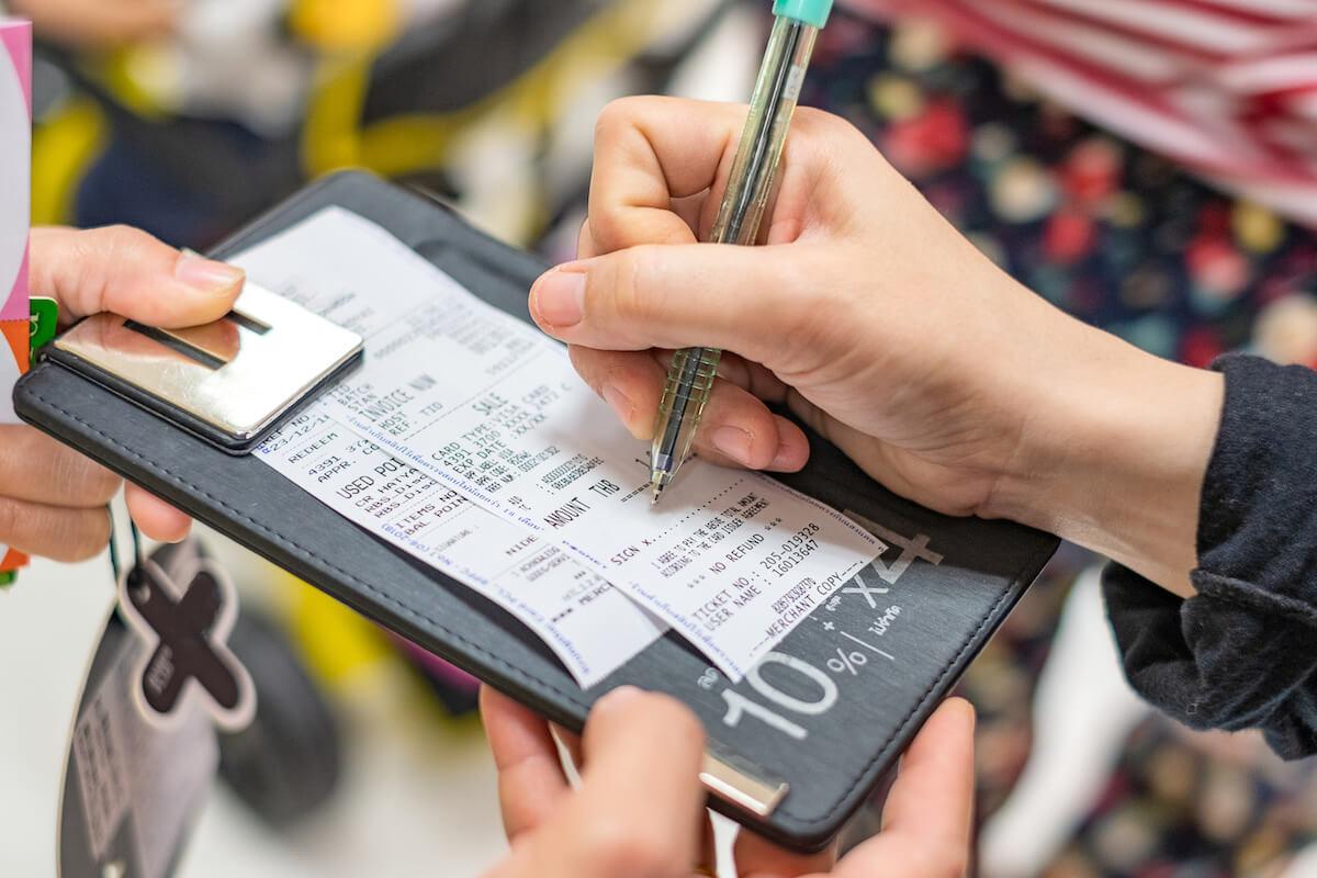 クレジットカードのサイン(署名)
