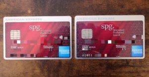 SPGアメリカンエキスプレスカードの券面