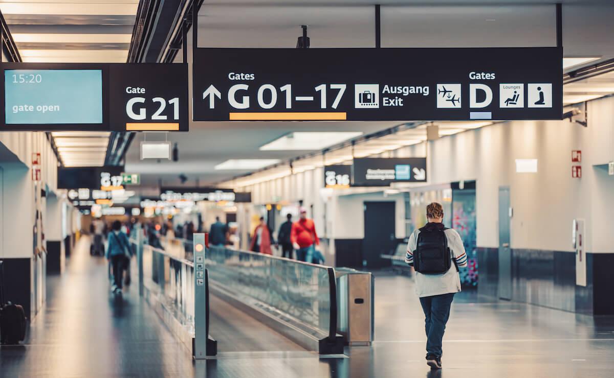 ウィーン国際空港のゲート
