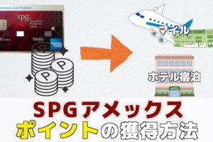 SPGアメックスのポイント獲得方法